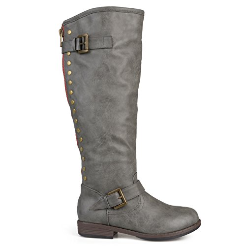 Brinley Co Women's Durango Riding Boot, Dark Grey, 10 M US (Grey Womens Riding Boots)