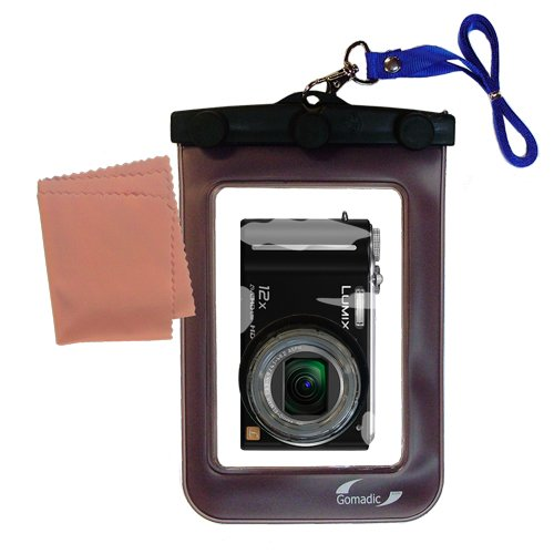 軽量水中カメラバッグSuitable for the Panasonic Lumix DMC - dmc-zs3防水保護   B00ATQUQFE