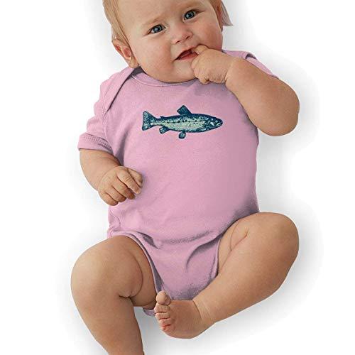 Green Bass Fish Baby Bodysuit Onesies Infant Short-Sleeve Baby Boys Girls