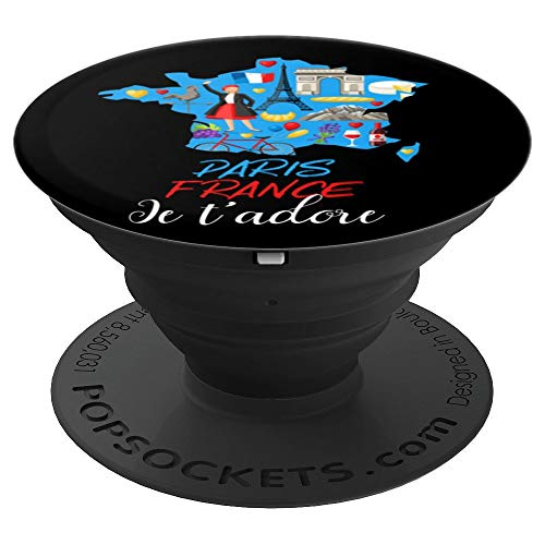 Paris France Je t'adore French traditions Eiffel tower Gift - PopSockets Grip and Stand for Phones and Tablets
