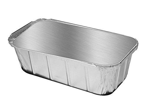 Handi-Foil 1 1/2 lb. Ivc Disposable Aluminum Foil Loaf Pan w/Foil Board Lid 50PK (pack of 50)