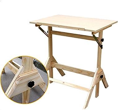 crazyworld ajustable mesa de dibujo, madera de mesa caballete ...