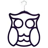Scarf Holder Owl Design in Purple