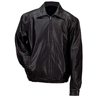 Gianni Collani? Black Solid Genuine Leather Bomber Style Men?s Jacket