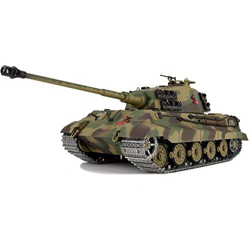 - Professional 2.0 Edition 1/16 2.4Ghz Remote Control German King Tiger Henschel Tank Model(Upgraded/Steel Gear Gearbox)(Upgraded/Metal Tracks &Sprocket Wheel & Idle Wheel)
