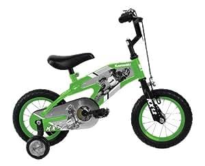 Kawasaki Monocoque Kid's Bike, 12 inch Wheels, 8 inch Frame, Boy's Bike, Green