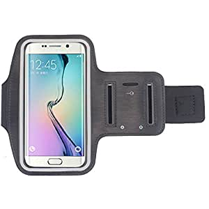 Fashion Workout Running Cover Casual Running Riding Arm Band Sports Gym Arm Band Case Cover For Samsung Galaxy S6 Edge Black-Black