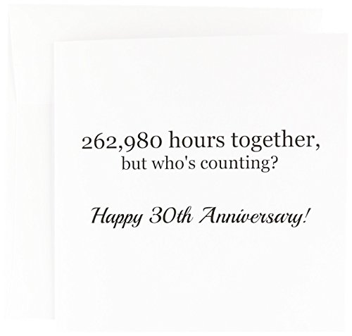(Happy 30th Anniversary - 262980 hours together - Greeting Card, 6 x 6 inches, single (gc_224675_5) )