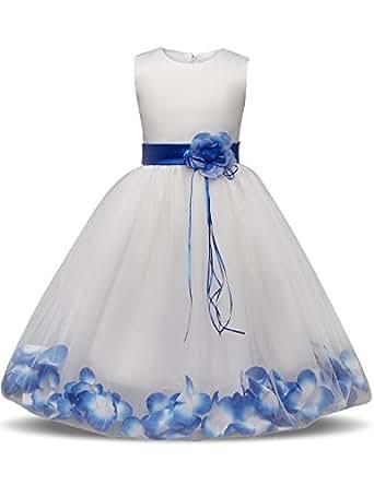 Amazon NNJXD Girl Tutu Flower Petals Bow Bridal Dress