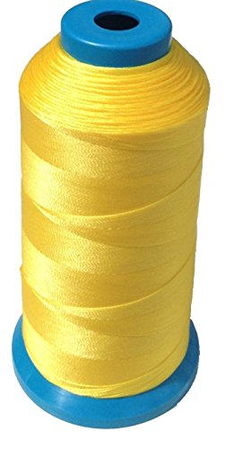 item4ever-bright-yellow-bonded-nylon-sewing-thread-138-t135-1250-yard-for-outdoor-leather-upholstery