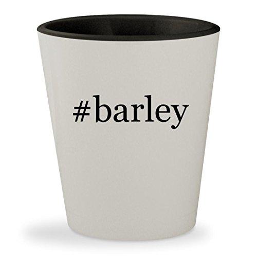 #barley - Hashtag White Outer & Black Inner Ceramic 1.5oz Shot Glass