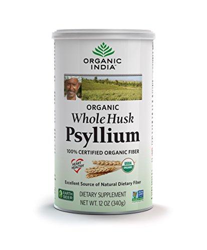 Organic India Whole Husk Psyllium, 12-Ounce