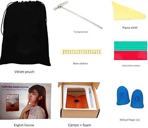 17-key Thumb Piano met Learning Guide en Tuning Hammer, Portable Finger Piano, professionele geschenk for kinderen en volwassenen Beginners aijia