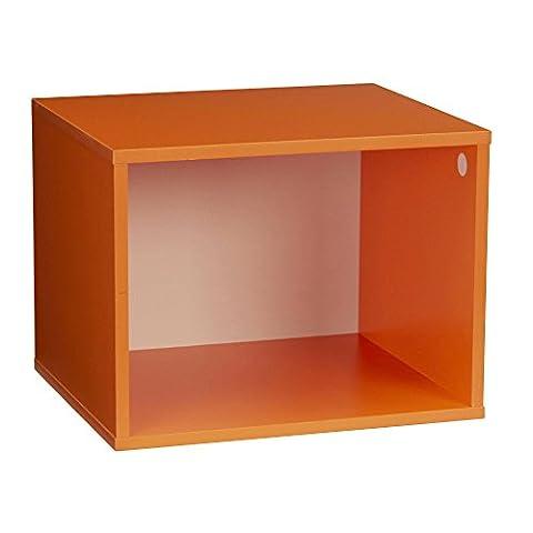 Household Essentials 8005-1 Modular Single Cube Storage, Orange - Modular Office Storage