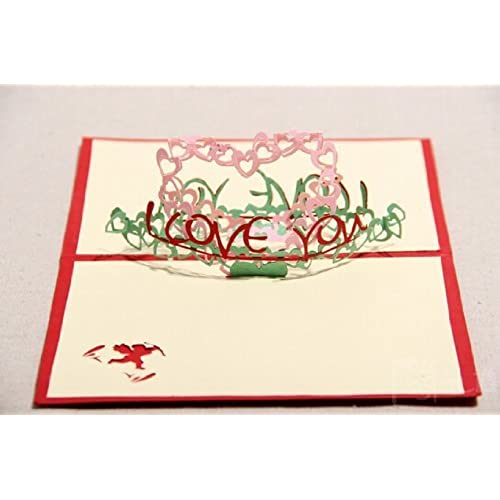 Creative 3d Handmade Cupid I Love YOU Greeting Card Postcard Great Gift for Christmas Day,valentine's Day Sales