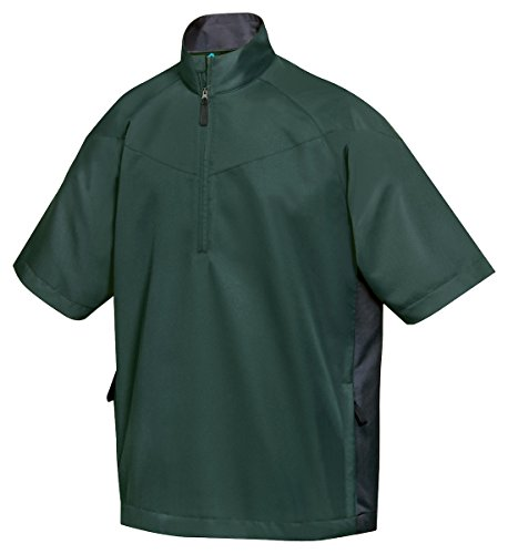 (Tri-Mountain All Season Half Zip Short Sleeve Windshirt - 2610 Icon Green 3XL)