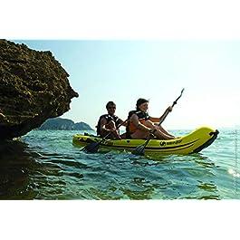Sevylor Kayak Gonflable Reef 300, Kayak Sit-on-Top, Canoë Pour 2 Personnes, 296 x 84 cm