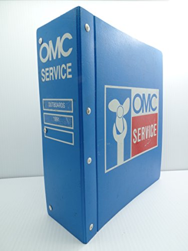 OMC Service 1991 Parts Catalogs Outboards Binder Evinrude Johnson Commercial (Johnson Omc Outboard Part Catalog)