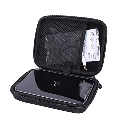 (Aenllosi Hard Carrying Case for Fits Lifeprint 3x4.5 Portable Photo and Video Printer fits Zink Film Paper Pack (3x4.5, Black))