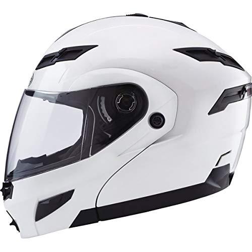 (Gmax GM54S Modular Men's Street Motorcycle Helmet - Pearl)