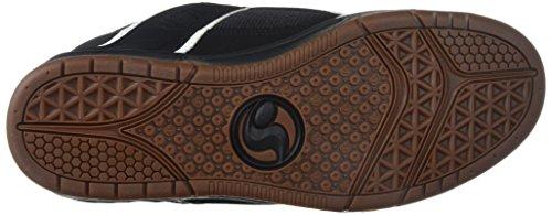 Chaussure DVS Comanche Noir Blanc Gum Leather