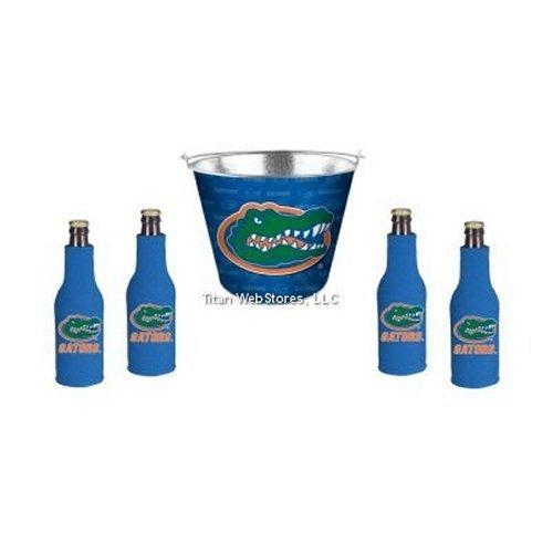 ncaa-florida-tin-beer-pail-bottle-suit-4-set-florida-gators-coozie-bucket-gift-set