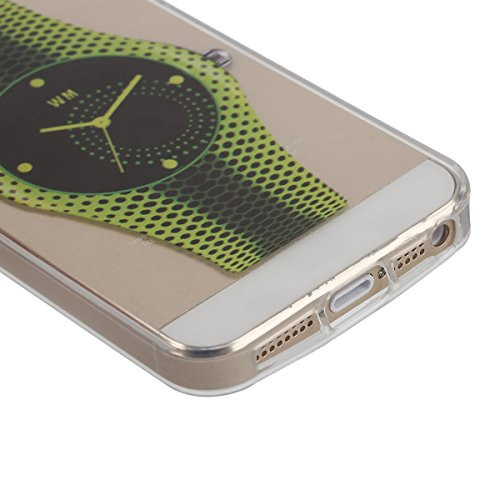 Funda para iPhone 6 6S, funda de silicona transparente para iPhone 6 6S, iPhone 6 6S Case Cover Skin Shell Carcasa Funda, Ukayfe caso de la cubierta de la caja protectora del caso de goma Ultra Delgad Orologi Verdi