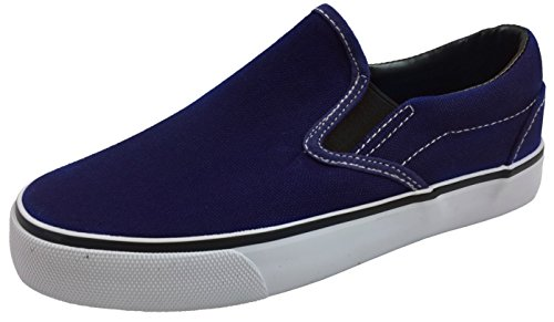 Kid's Classic Slip On Canvas Sneaker Tennis Shoes, 2926 Navy 2 US Little ()