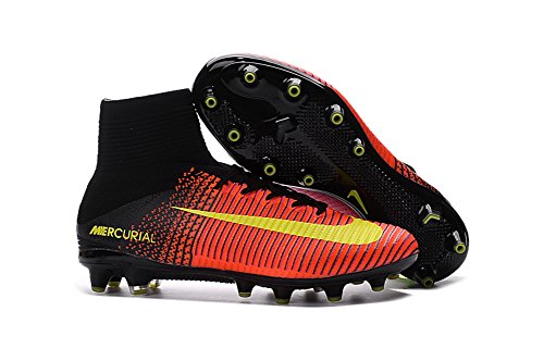 demonry Schuhe Herren Mercurial superfly V AG Pro Fußball Stiefel, Rot