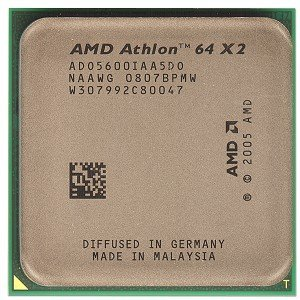 - AMD Athlon 64 X2 5600+ Brisbane 2.9GHz 2 x 512KB L2 Cache Socket AM2 65W Dual-Core Processor With FAN