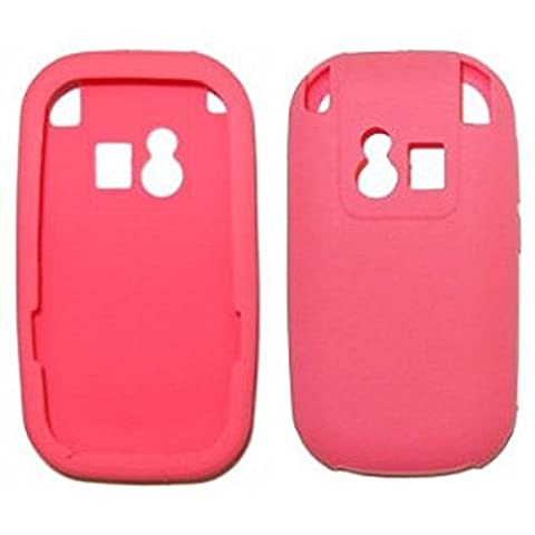 Solid Pink Soft Silicone Gel Skin Cover Case for Palm Centro 690 - Non-Retail Packaging (Palm Centro 690)