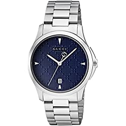 96ace09ba80 Gucci G-Timeless Diamante Blue Dial Ladies Watch YA1264025