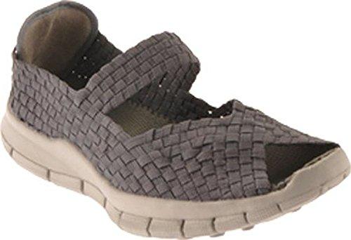 Bernie Mev Women Comfi Open Toes Shoes (38 M EU, Grey)