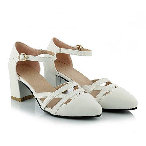 Femme SLC03916 36 Compensées Blanc AdeeSu 5 Blanc Sandales wZa4qF