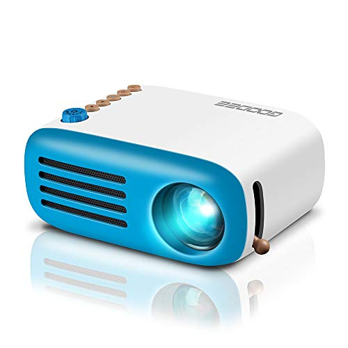 Mini Projector, GooDee LED Pico Projector, Pocket Video Projector Support HDMI Smartphone PC Laptop USB for Movie Games