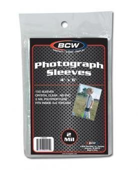 - BCW 1-4X6SLV Bcw 4X6 Photo Sleeves