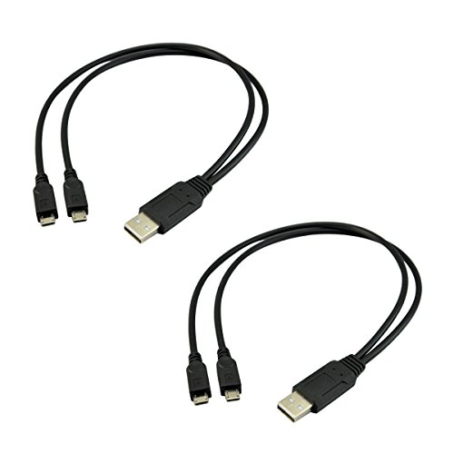 Charging Dual Cable - UCEC Dual Micro USB Splitter Charge Cable Power up to Two Micro USB Devices At Once From a Single USB Port (2pack)