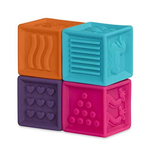 B. toys – One Two Squeeze Baby Blocks – Building Blocks for Toddlers – Educational Baby Toys 6 Months & Up with Numbers…