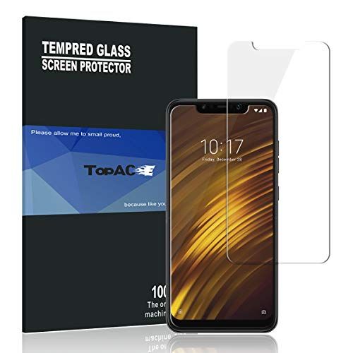 Price comparison product image Xiaomi Poco F1 Screen Protector, TopACE Xiaomi Poco F1 Tempered Glass 9H Hardness [Case Friendly][Anti-Scratch][Bubble Free] for Xiaomi Poco F1 / Xiaomi Pocophone F1 (2 Pack)