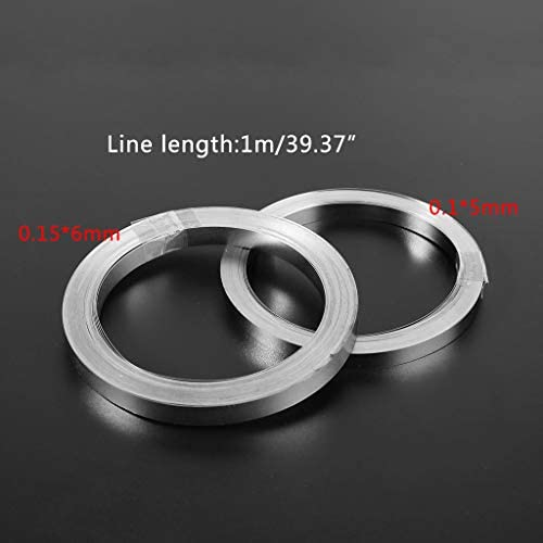 Shoresu 10m Nickel-Plated Strip Tape for Li 18650 Battery Spot Welding 0.1x5mm//0.15x6mm 0.15x6mm