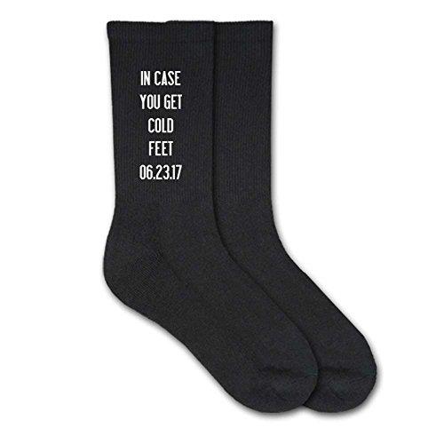 Groom Socks (Sockprints Personalized Socks for the Groom Men's Sock Size 10-13 Black)