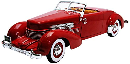 Auto World AMM1014 1937 Cord 12 Convertible red 1:18 scale die cast metal (Diecast Metal Replica)