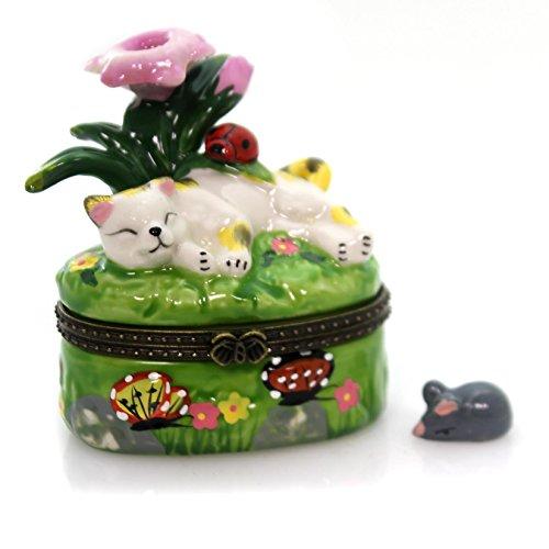 Decorative Cat Lidded Box - 5