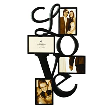 Burnes of Boston 545840 Metal  LOVE  Collage Frame, 2-4X6 & 2-6X4 Openings