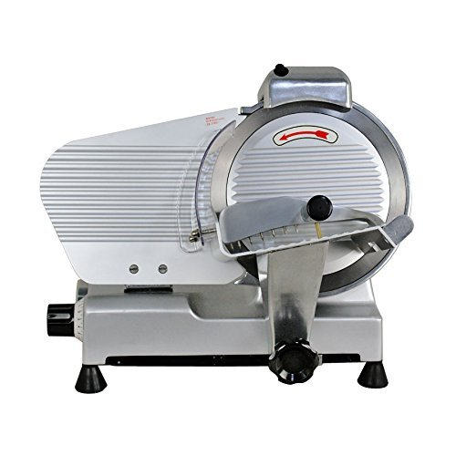 Smartxchoices 10-inch Semi-Auto Meat Slicer for Home Commercial Use Thickness Adjustable Cheese Food Fruit Bread Slicer Machine (240W, 530 RPM) by Smartxchoices