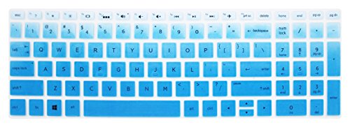 Keyboard Skin for 15.6 HP Pavilion X360 15-br075nr, HP Envy x360 15m-bp 15m-bq, HP Spectre x360 15-ch011dx, HP Pavilion 15-cb 15-cc 15-cd 15-bw 15-bs & 17.3 HP 17m-ae 17-bs Series - Blue Ombre