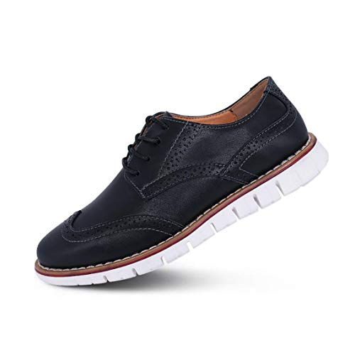 Suede Lace Up Walking Shoes - Mens Oxford Casual Classic Modern Dress Walking Shoes Business Lace Up Loafers Black