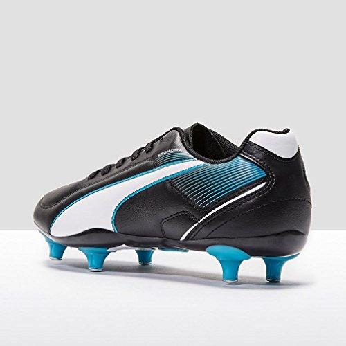 PUMA Chaussure de football Esquadra F4 SG pour Junior, Noir/Bleu/Blanc, 38