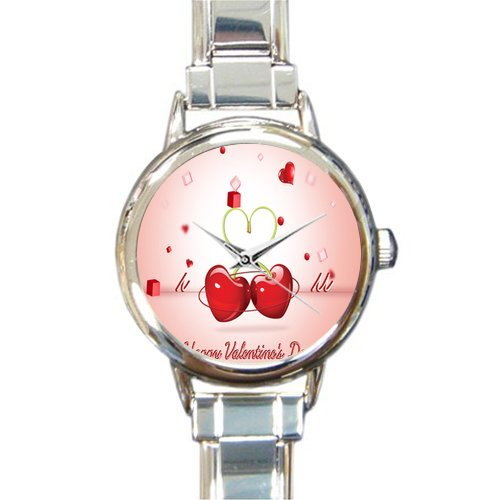 Valentine's Day Gift Watch Lovers in the Sky Round Italian Charm stainless steel Watch