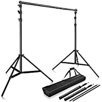 Happyjoy Photography 10Ft x 9Ft Photo Video Studio Telescopic Aluminum Alloy Adjustable Portable Background Backdrop Stand Support System Kit Tripod with Carry Bag and Cross Bar